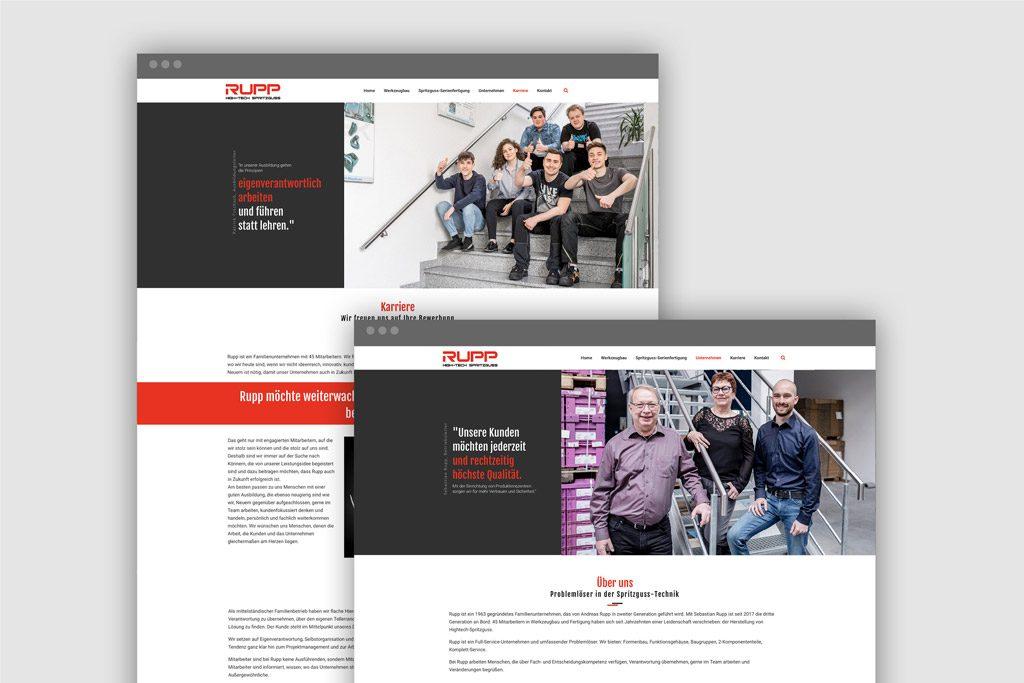 Die neue Rupp-Website: Übersichtlich, modern, informativ, mobiltauglich